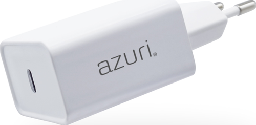 Azuri PD and QC home charger with 1xUSB-C port - wit - 20W
