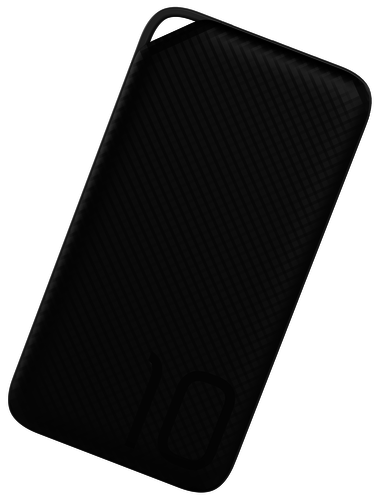 Huawei power bank 10.000 mAh - micro USB aansluiting + kabel + hoesje - zwart