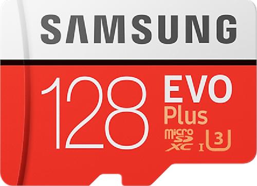 Samsung Evo + 128 GB micro SD class 10 - met adapter R100MBs/ W50