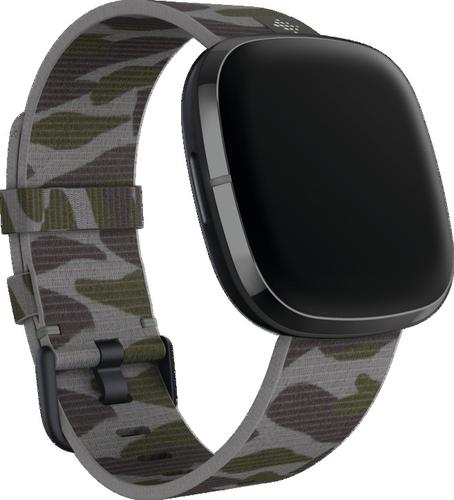 Fitbit Versa 3/Sense - Geweven Band - Camouflage - large