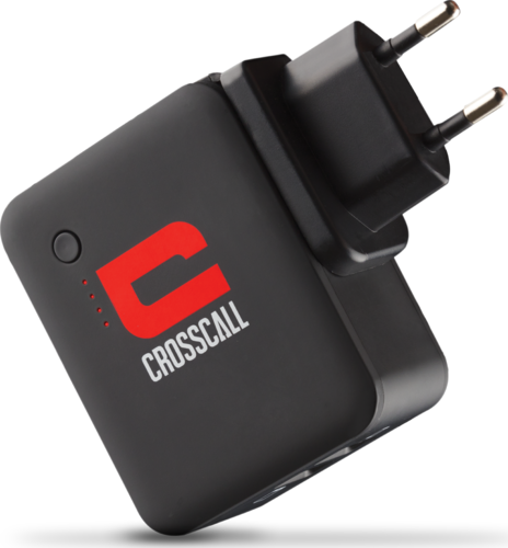 Crosscall Powerpack - Charger with integrated powerbank and adapter.