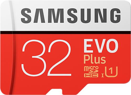 Samsung Evo + 32 GB micro SD class 10 - met adapter R95MBs/ W20
