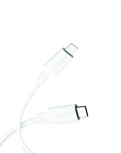Azuri USB Sync- and charge cable - USB Type C to Lightning - 1m - wit