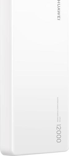 Huawei power bank 12.000 mAh - USB en USB C aansluiting + kabel - wit