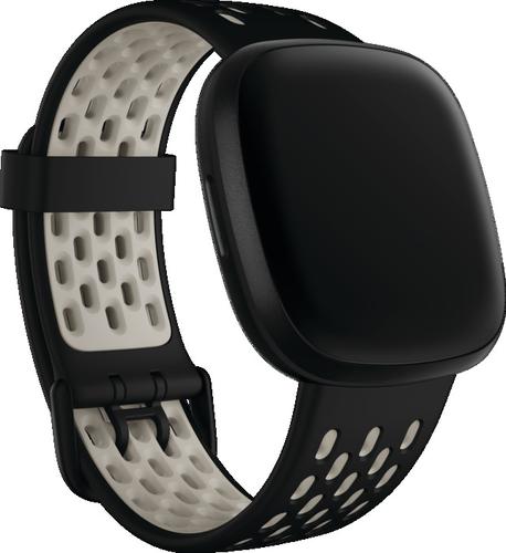 Fitbit Versa 3/Sense - Sport Band - zwart/Ivoorwit - large
