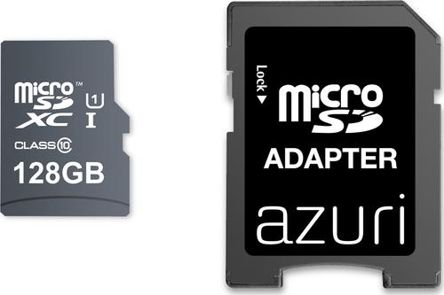 Azuri 128GB micro SDXC card class 10 - 90MB/s met adapter